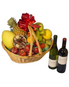 Wines & Fruit Gift Basket #3