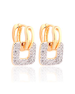 MOLIAM Fashion Design Small Huggie Hoop Earrings for Womens Cluster Paved Zirconia Crystal Stone