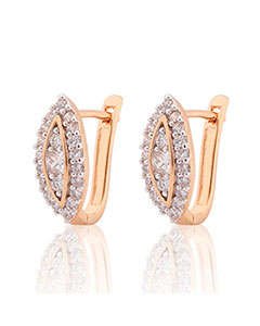 MOLIAM New Design Luxury Small Hoop Earring Hot Fashion Nuevos Anillos White Crystal