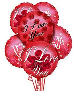 I Love You Balloons