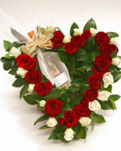 Roses heart & Sparkling wine