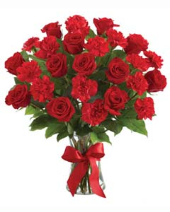 Red Roses & Red Carnations