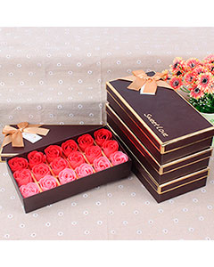 Set Romantic Rose Soap Flower