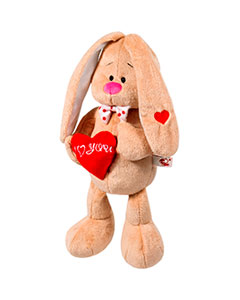 Baby rabbit with heart