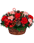 Holiday Candy Canes Basket