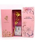 24k Gold Foil Gold Rose Flower Valentine's Day Gift Gold Flower+Box