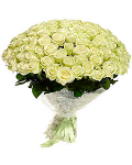 White Roses Flower Bunch