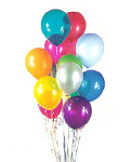 A Bunch of Colorful Latex Balloons