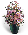 Bouquet of asters, carnations & chrysanthemums
