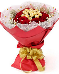 Flowers With Ferrero Rocher 01