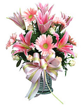 Bouquet of pink gerberas & lilies