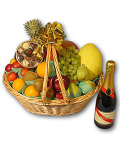 Sparkling Wine & Fruit Gift Basket #5