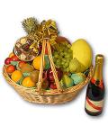 Sparkling Wine & Fruit Gift Basket #5