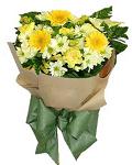 Fresh Mixed Cut Flowers Arrangement in a Bouquet