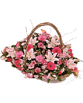 Delightful basket of fresh flowers