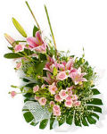 Bouquet of pink lilies & roses