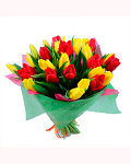 "Bouquet ""Red and yellow tulips"""