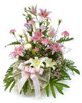 Mixed flower basket